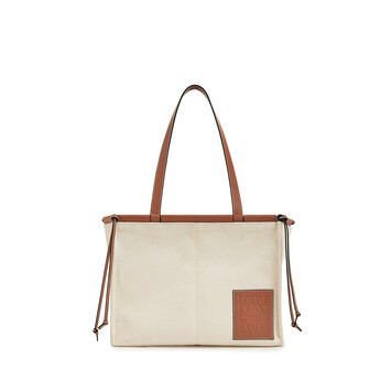 LOEWE 小号Cushion Tote手袋 Light Oat front