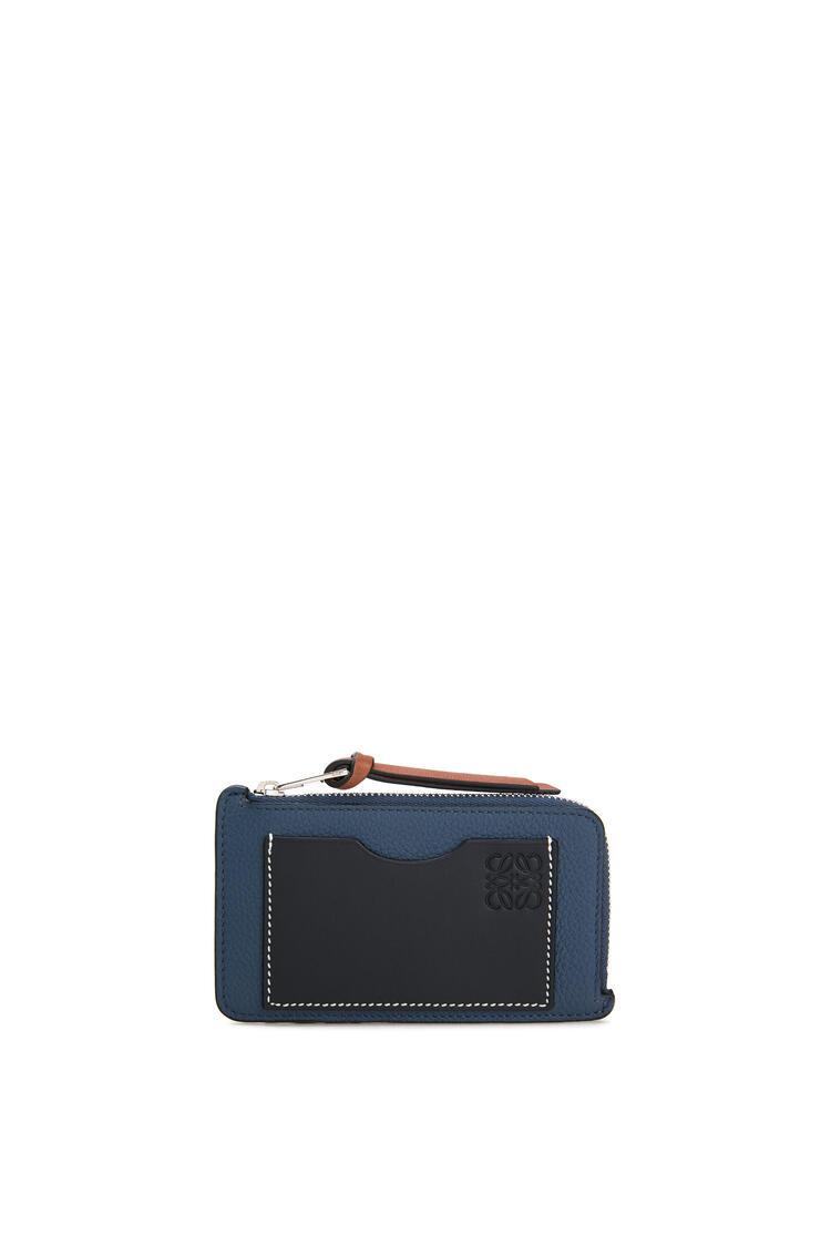 LOEWE Coin cardholder in soft grained calfskin Indigo Dye/Black pdp_rd