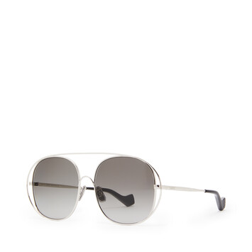 LOEWE Metal Round Sunglasses Anthracite front