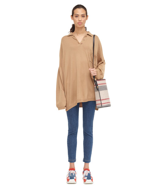 LOEWE Oversize Poloneck Sweater Camel all
