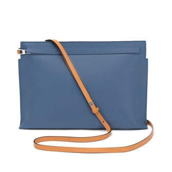 LOEWE Bolso T Pouch Azul Varsity/Ambar front