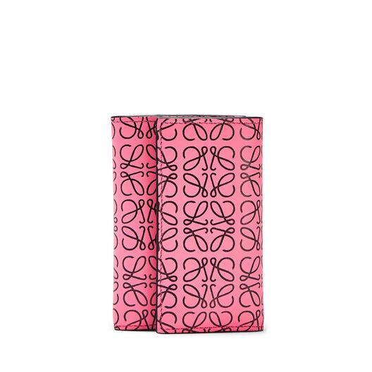 LOEWE Small Vertical Wallet Wild Rose/Black front