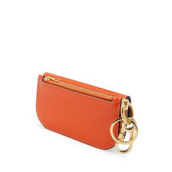 LOEWE ゲートミニウォレット Orange/Blossom front