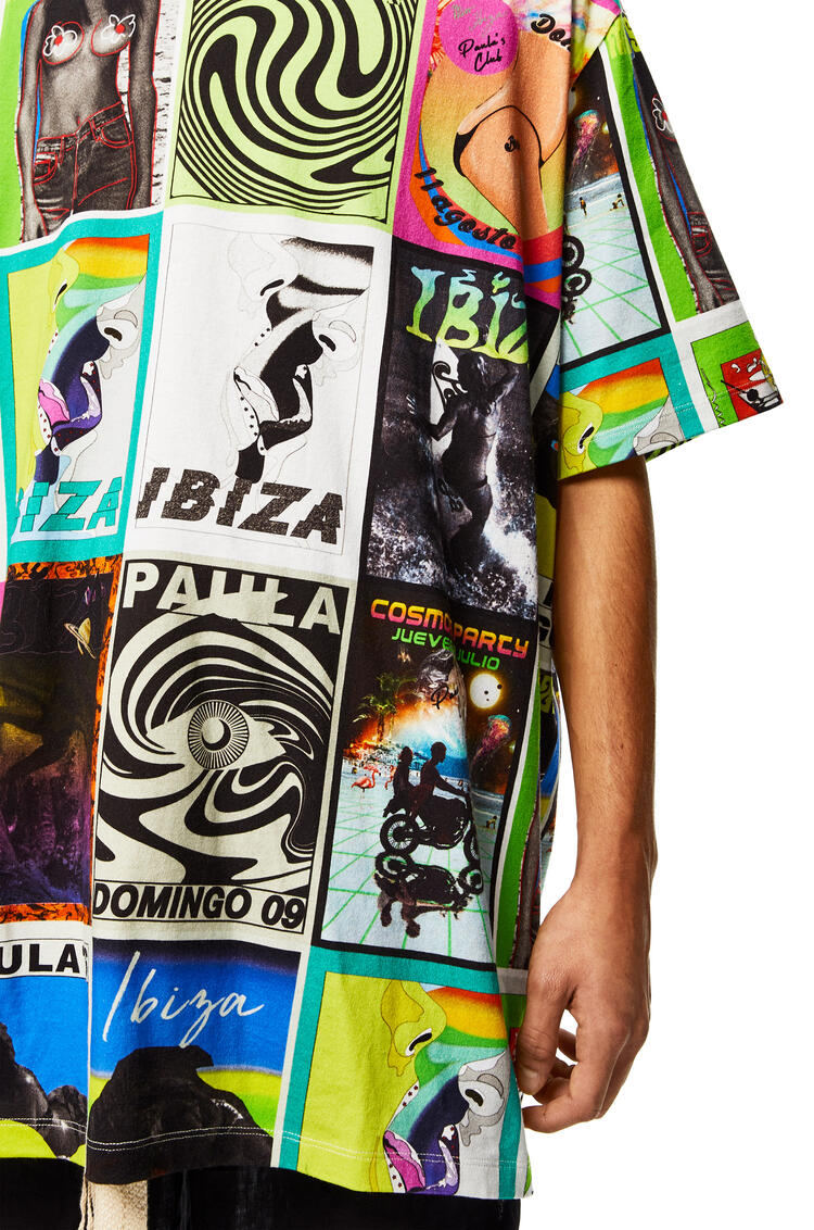LOEWE Oversize T-shirt in cotton with club flyer motif Multicolor pdp_rd