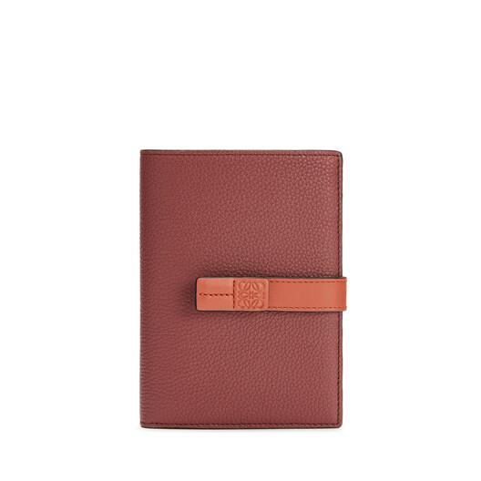 LOEWE Medium Vertical Wallet Wine/Burnt Orange  front