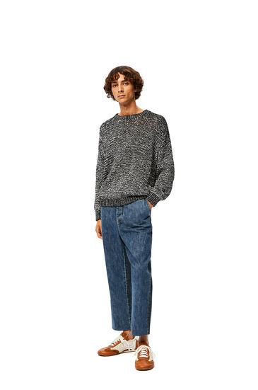 LOEWE Melange sweater in cotton Black/White pdp_rd