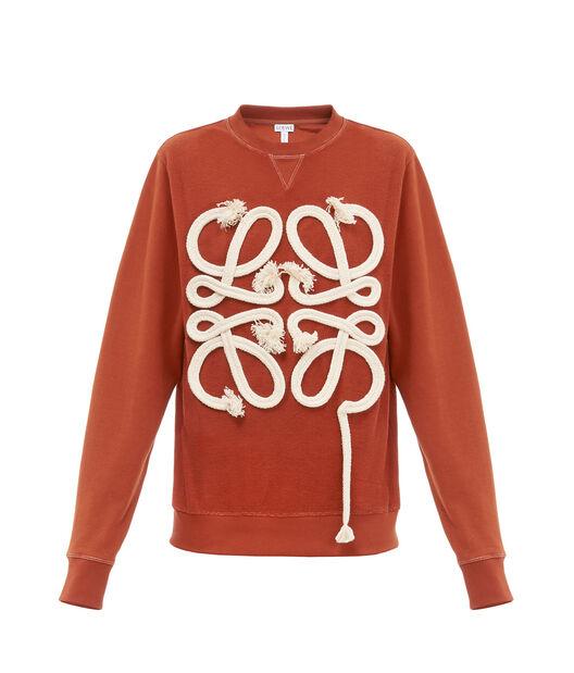 LOEWE Sweatshirt Rope Anagram Terracota all