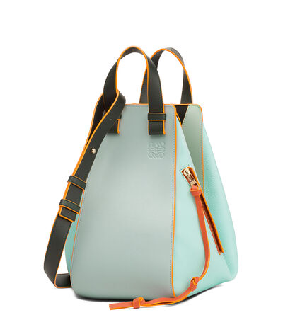 LOEWE Hammock Medium Bag Aqua Multitone front