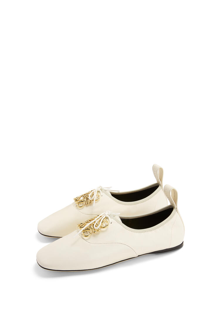 LOEWE Anagram soft derby in lambskin Soft White pdp_rd