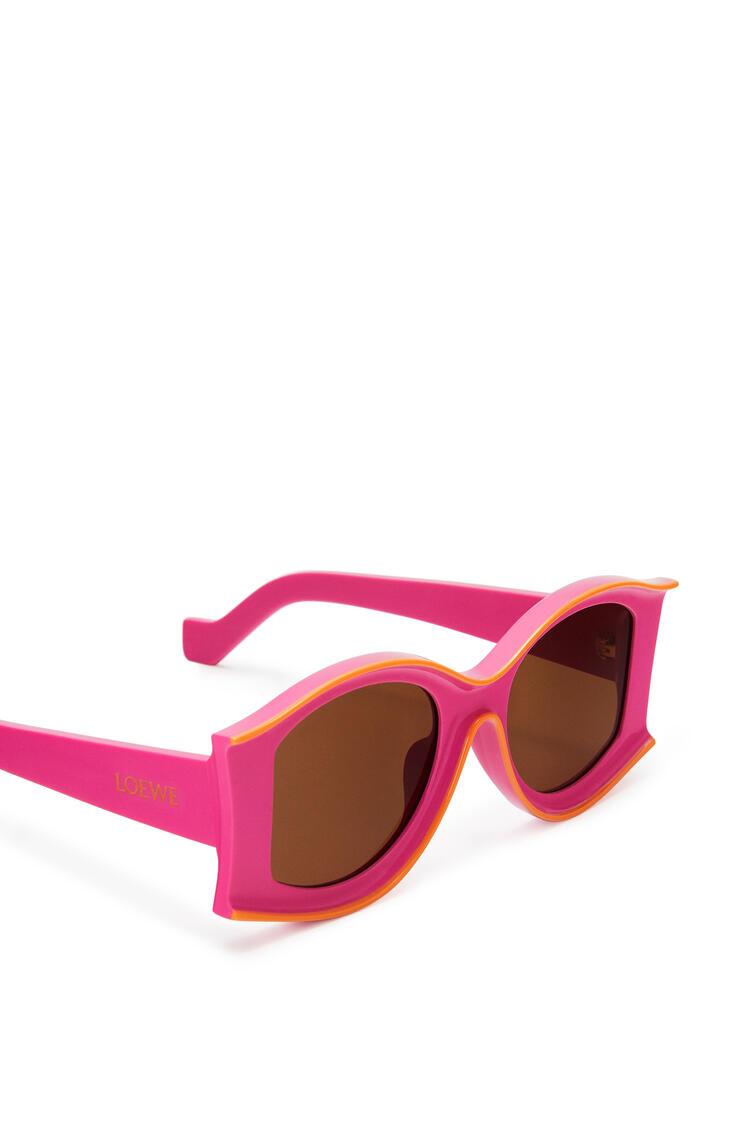 LOEWE Gafas de sol grandes en acetato Rosa Neon/Naranja Neon pdp_rd