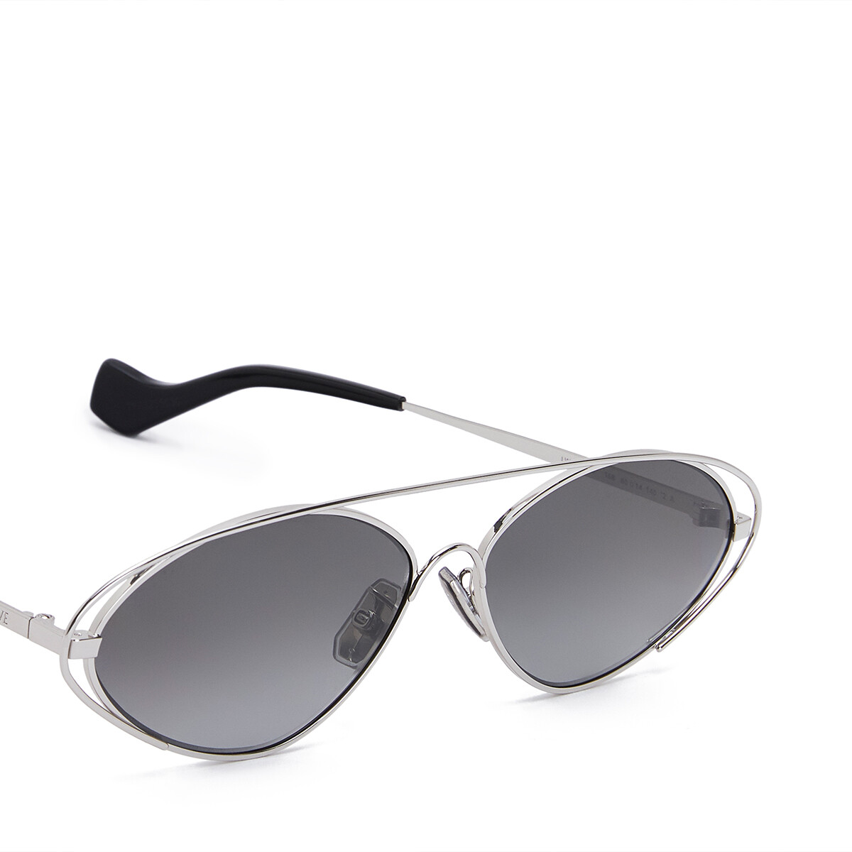 LOEWE Metal Oval Sunglasses Anthracite front