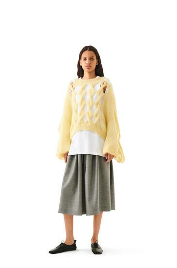 LOEWE Knit Mesh Sweater In Mohair Vanilla pdp_rd