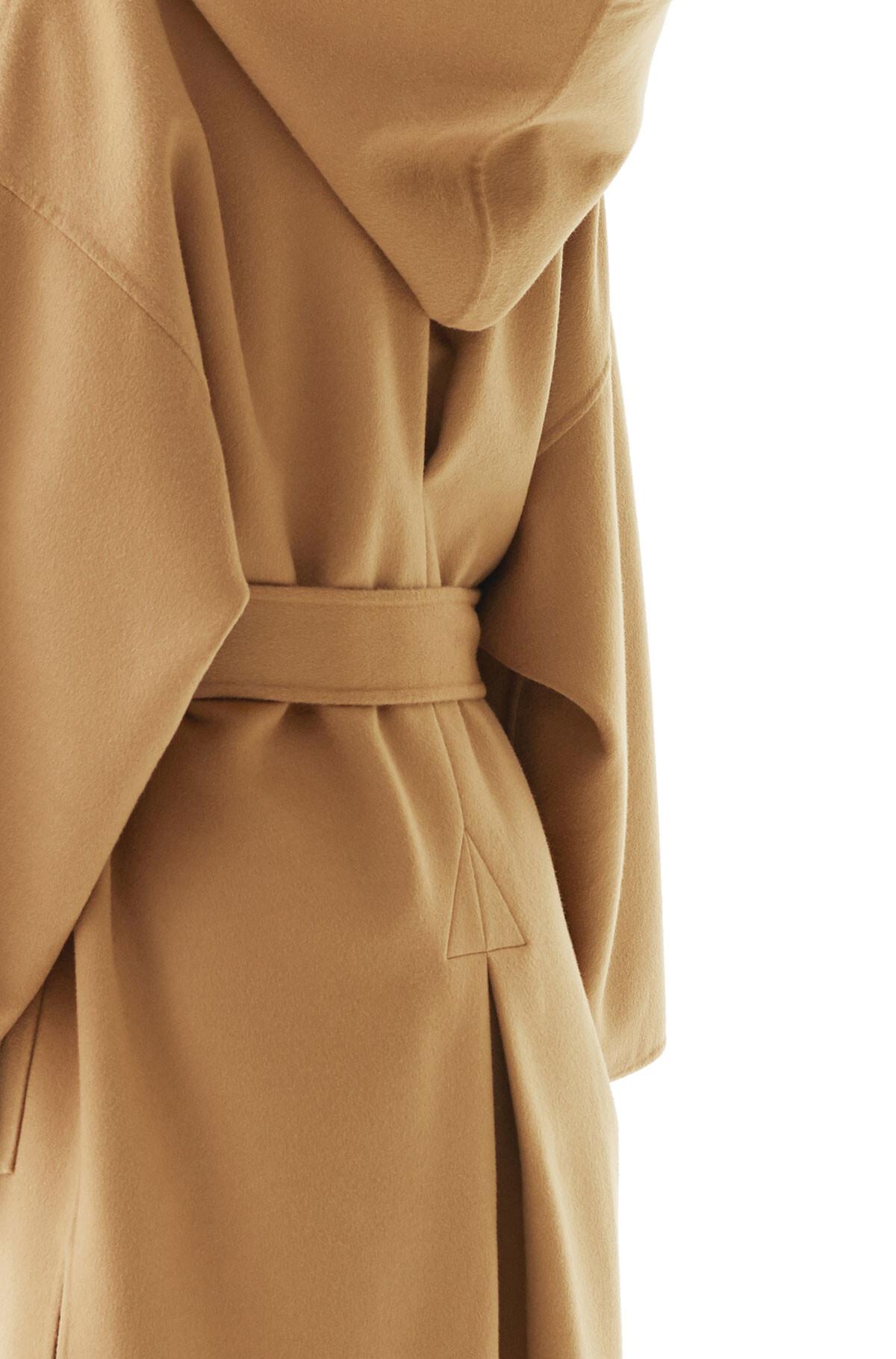 LOEWE Hooded Coat Camel front