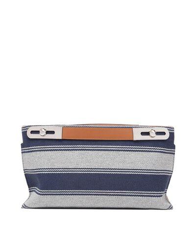 LOEWE Missy Stripes Bag Navy Blue/Tan front