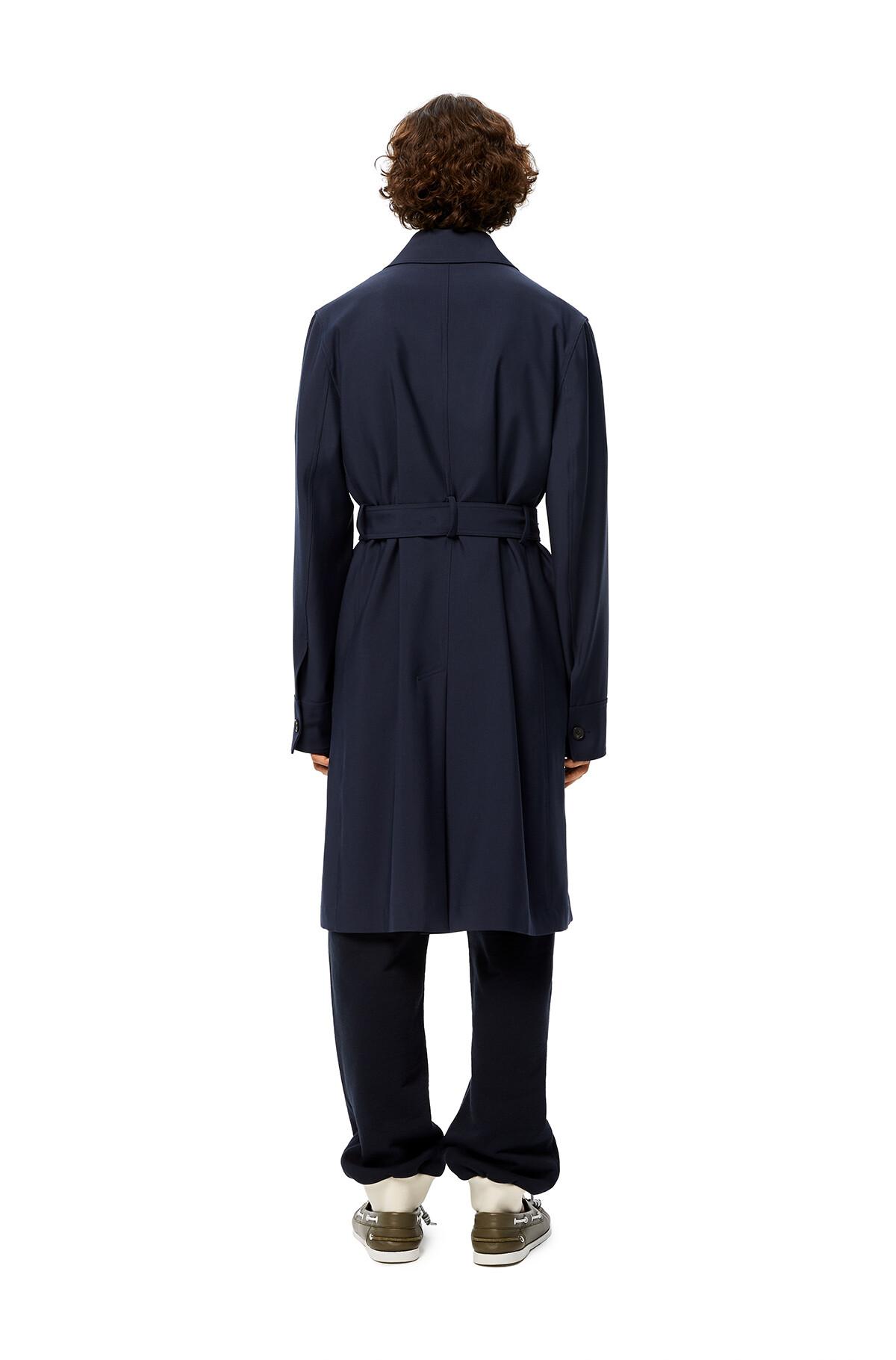 LOEWE Belted Coat Navy Blue front