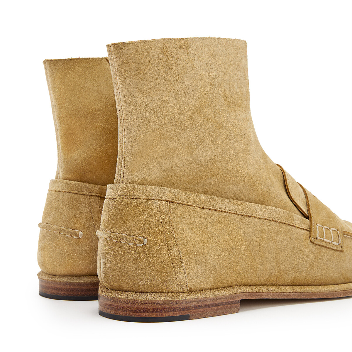 LOEWE Loafer Boot Gold front