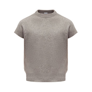 LOEWE Sleeveless Cropped Sweater Gris front