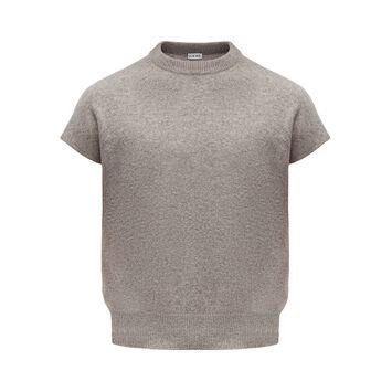 LOEWE Sleeveless Cropped Sweater Grey front