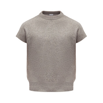LOEWE Sleeveless Cropped Sweater Grey front