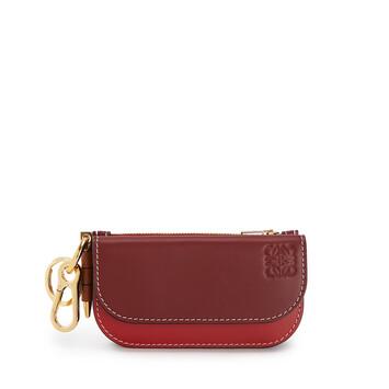 LOEWE Gate Mini Wallet Garnet/Pomodoro front