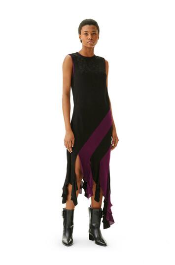 LOEWE Curl Dress Jacquard Black/Purple front