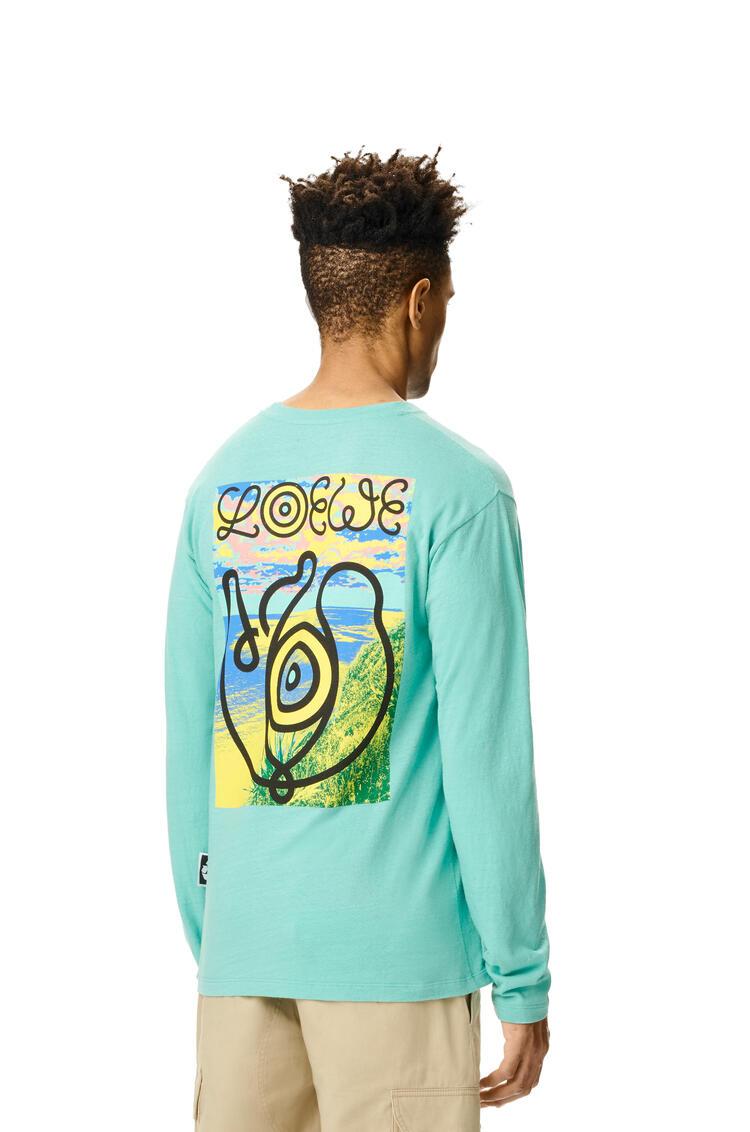 LOEWE Camiseta de manga larga en algodón Verde Menta pdp_rd