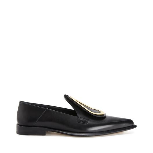 LOEWE Drop Pointy Loafer Black front