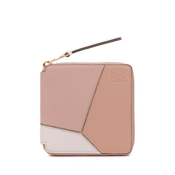 LOEWE Puzzle Square Zip Wallet Blush Multitone front