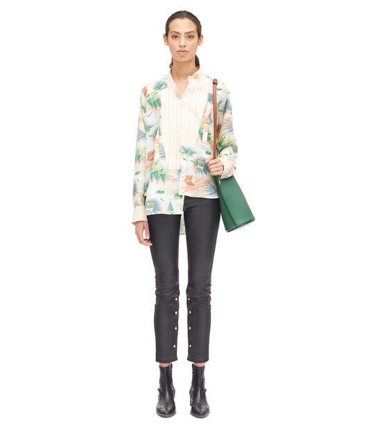 LOEWE Forest Asymmetric Shirt Ecru/Multicolor all