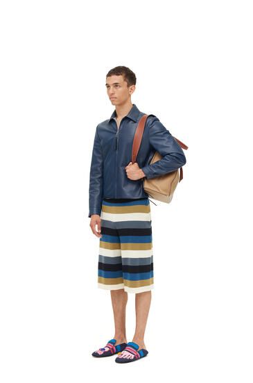 LOEWE Reversible zip blouson in nappa Navy Blue pdp_rd