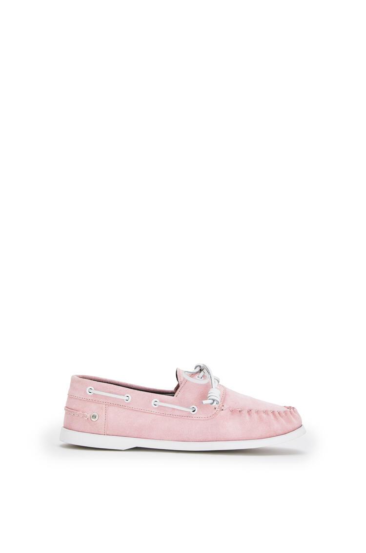 LOEWE Boatshoe In Split Calfskin Pink pdp_rd