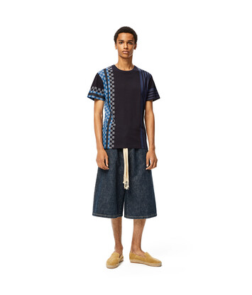 LOEWE Stripe Anagram T-Shirt 海軍藍/多色拼接 front