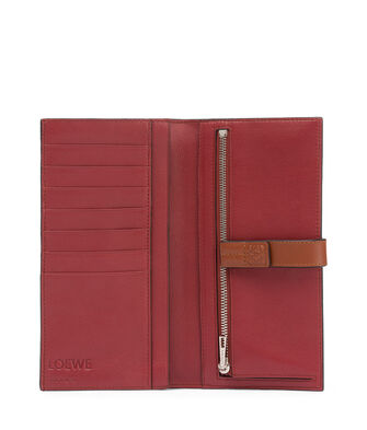 LOEWE Large Vertical Wallet Light Caramel/Pecan Color  front