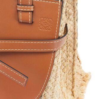 LOEWE Gate Top Handle Small Bag Tan/Natural front