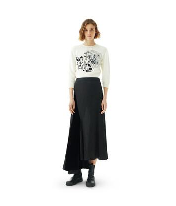 LOEWE Velvet Patch Skirt Black front