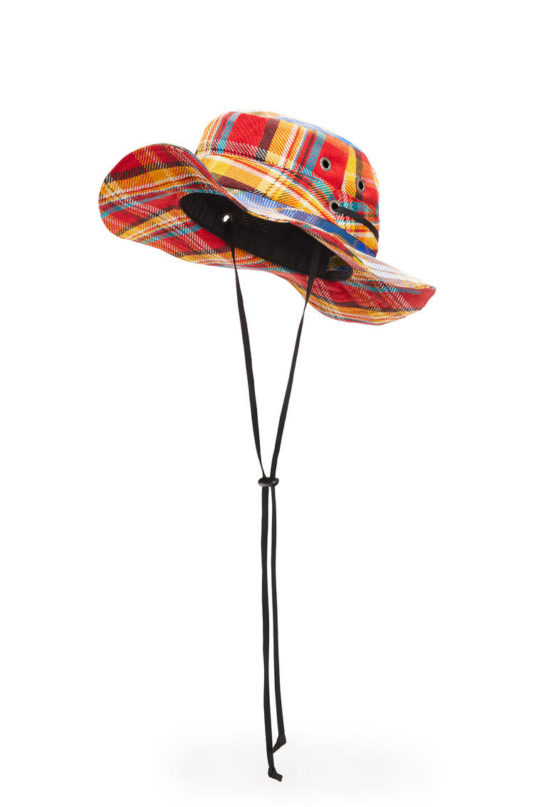 LOEWE Explorer hat in tartan Multicolor pdp_rd