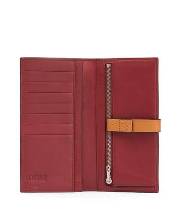 LOEWE Large Vertical Wallet Varsity Blue/Honey front