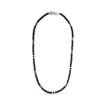 LOEWE Paula Shell Necklace Small 黑色/金属灰 front