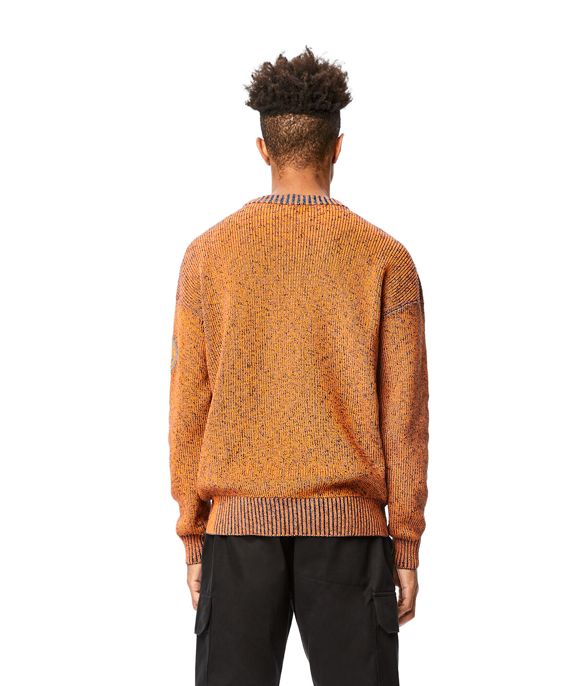 LOEWE Eln Melange Crewneck Sweater Orange/Blue front