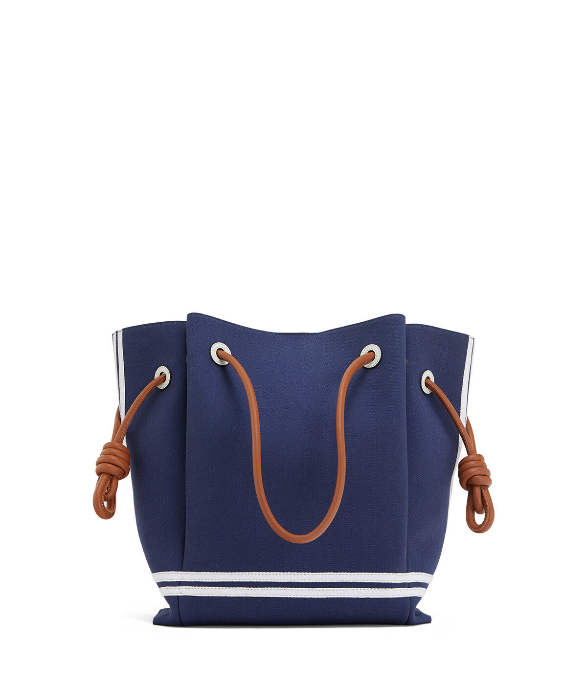 LOEWE Flamenco Knot Tote Sailor Deep Blue/Soft White front
