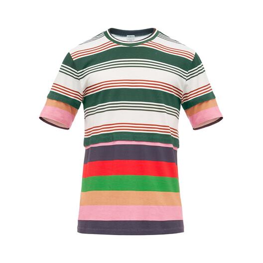 Double Layer Stripe T-Shirt