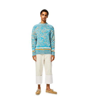 LOEWE Melange Sweater Turquesa/Naranja front