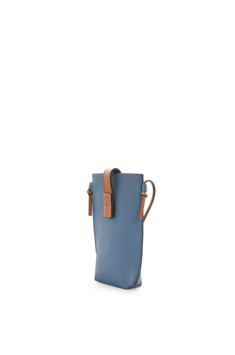 LOEWE Pocket in soft grained calfskin Steel Blue/Tan pdp_rd