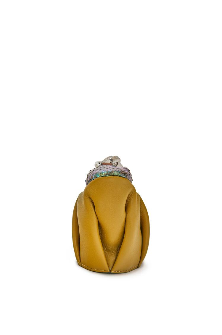 LOEWE Frog charm in calfskin and snakeskin Ochre pdp_rd