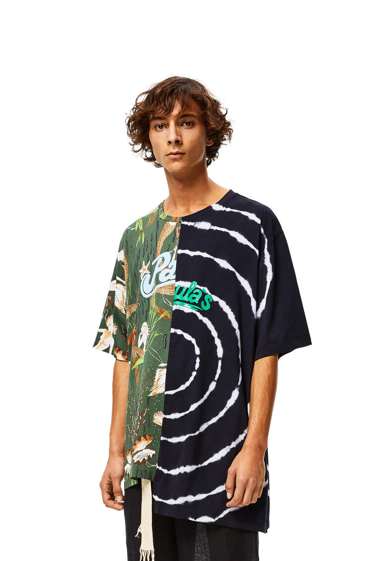 LOEWE Asymmetric oversize T-shirt in cotton Multicolor/Navy pdp_rd