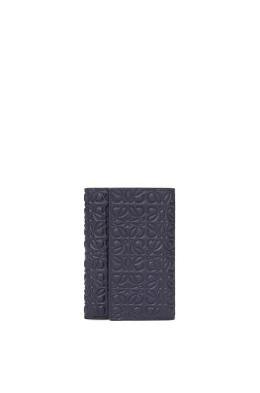 LOEWE Small vertical wallet in calfskin Navy Blue pdp_rd