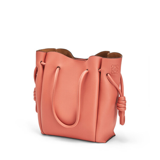LOEWE Flamenco Knot Tote Small Pink Tulip front