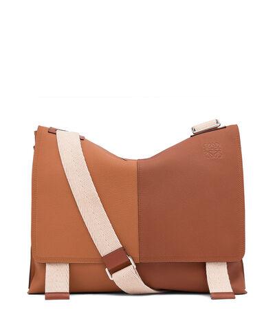 LOEWE Easy Messenger Bag Tan/Cognac front