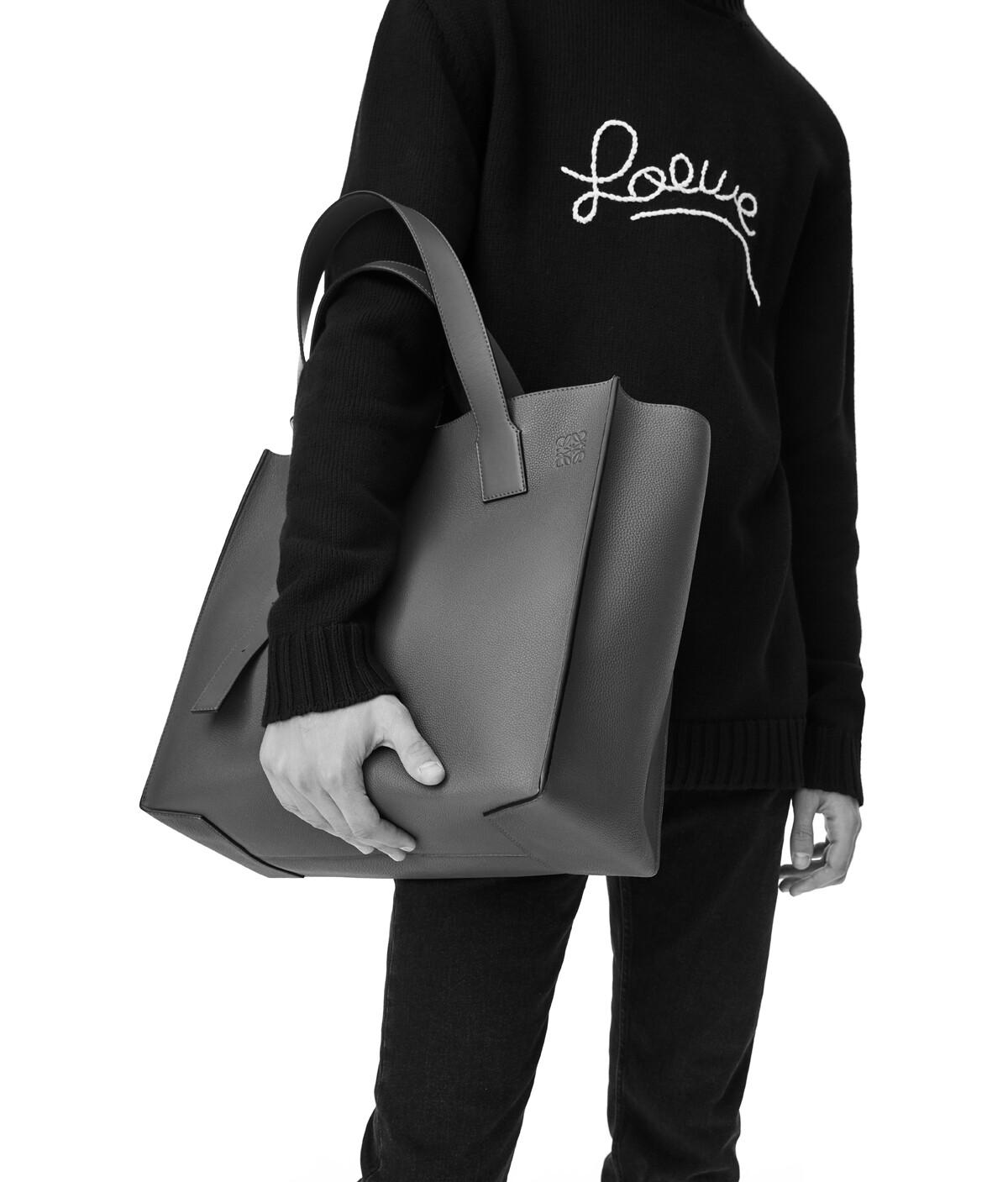 LOEWE Buckle Tote Dragon Bag Black front