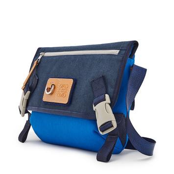 LOEWE Eye/Loewe/Nature Messenger Small Bag Electric Blue/Navy Blue front